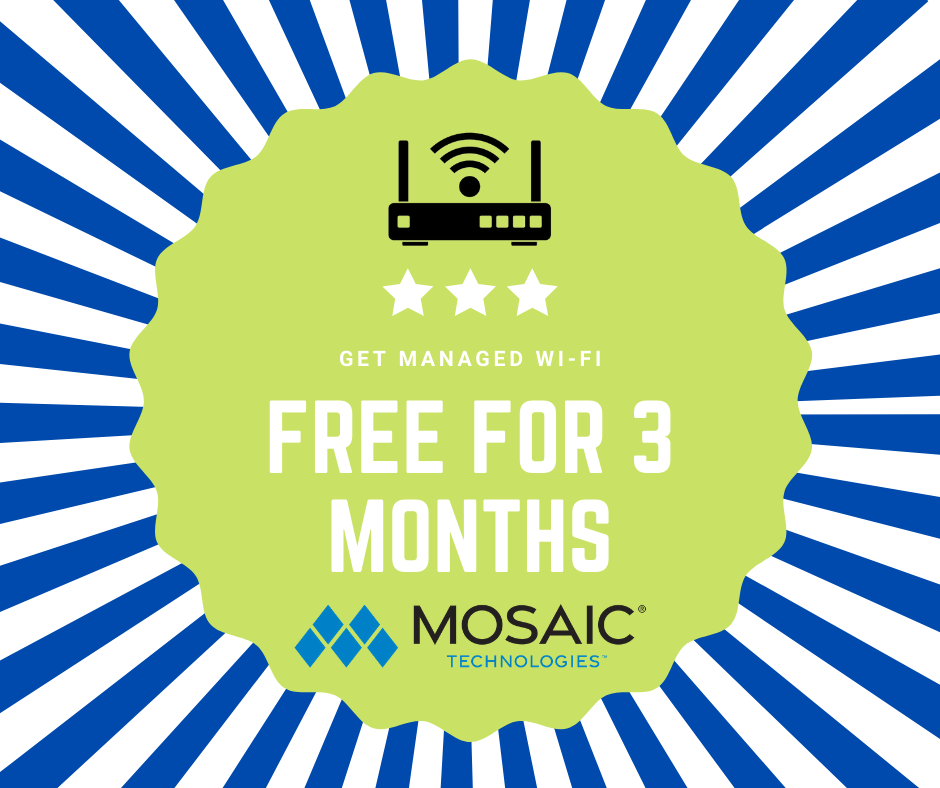 free managed wi-fi router icon, Mosaic Technologies logo